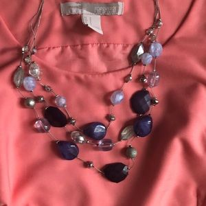 Blue Bead Necklace From New York and Company